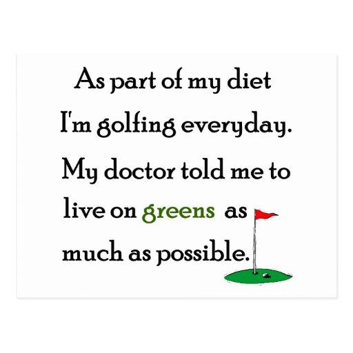 Living On Greens Postcard