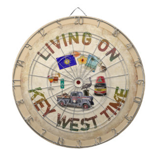 Living on Key West Time Dartboard With Darts