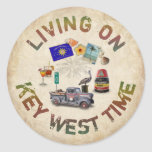 Living on Key West Time Stickers