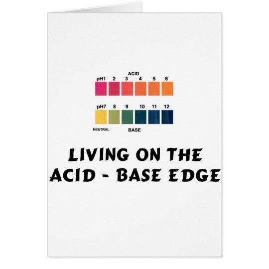 Living on the Acid / Base Edge Card