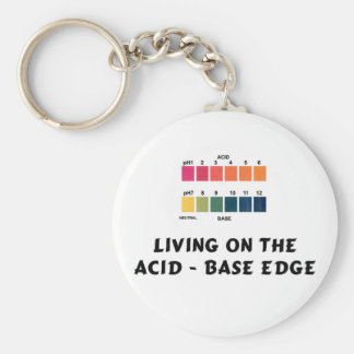 Living on the Acid / Base Edge Basic Round Button Keychain