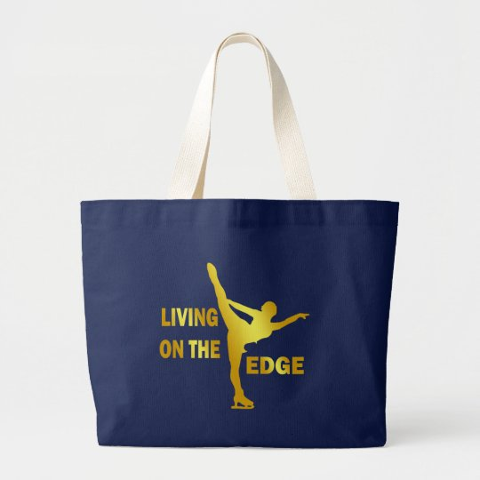 LIVING ON THE EDGE LARGE TOTE BAG