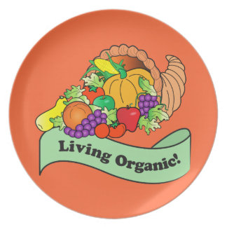 Living Organic Cornucopia Plate