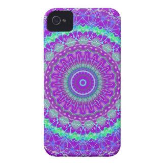 Living Purple Mandala kaleidoscope iPhone 4 case