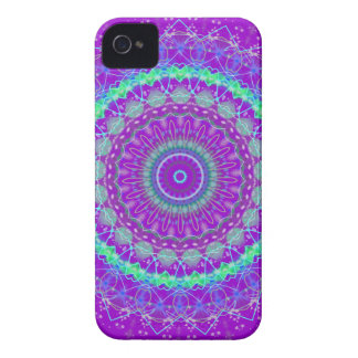 Living Purple Mandala kaleidoscope iPhone 4s case