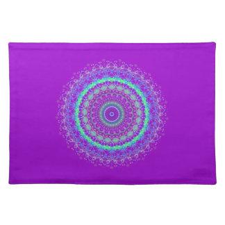 Living Purple Mandala kaleidoscope placemat