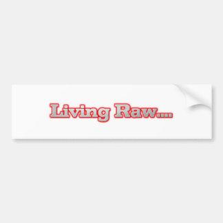 Living Raw Bumper Sticker