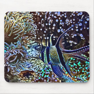 Living Reef and Fish Mouse Pad