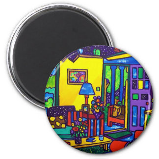 Living Room # 1 by Piliero 2 Inch Round Magnet