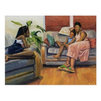 Living Room Lounge 2000 Postcard