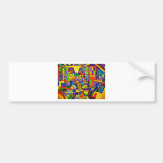 Living Room Magic Bumper Sticker