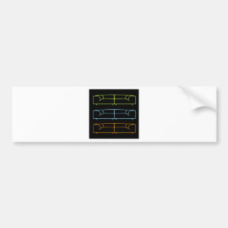 Living room modern sofa in different colors bumper sticker