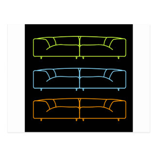 Living room modern sofa in different colors postcard