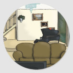 Living Room Round Stickers