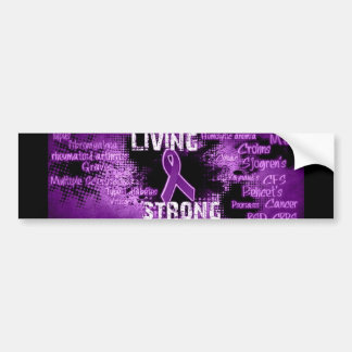 Living Strong Products Line Bumper Sticker