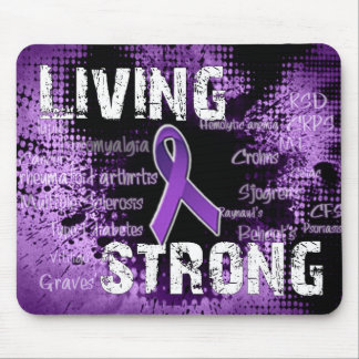 Living Strong Products Line Mouse Pad