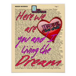 Living the Dream -- Art Print - Happily Ever After