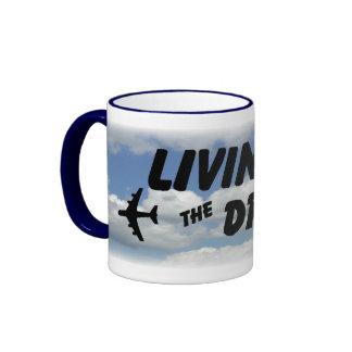 Living The Dream Blue Clouds Mug