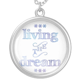 Living The Dream Blue Silver Plated Necklace