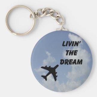 Living The Dream Cloud Keychain