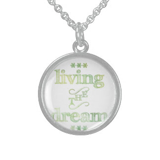 Living The Dream Green Sterling Silver Necklace
