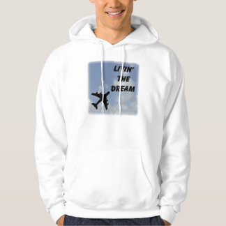 Living The Dream Hooded Clouds Hooded Pullover