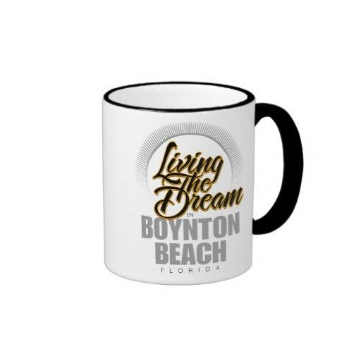 Living the Dream in Boynton Beach Ringer Coffee Mug