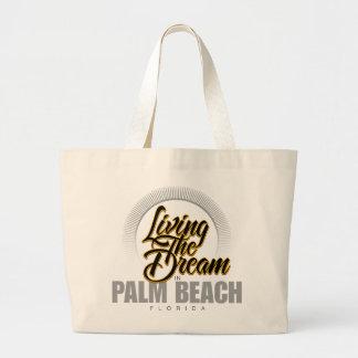 Living the Dream in Palm Beach Canvas Bags