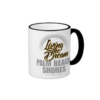Living the Dream in Palm Beach Shores Ringer Mug