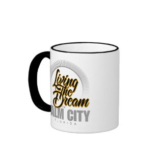 Living the Dream in Palm City Ringer Coffee Mug
