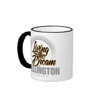 Living the Dream in Wellington Ringer Mug