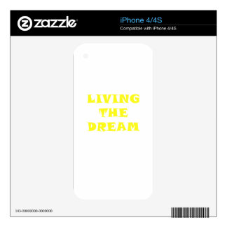 Living the Dream iPhone 4S Decal
