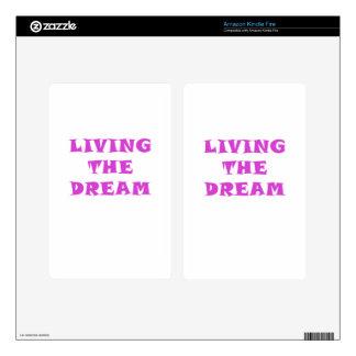 Living the Dream Kindle Fire Skin