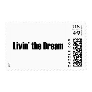 Living The Dream Postage Stamp