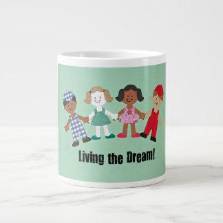 Living the Dream! 20 Oz Large Ceramic Coffee Mug