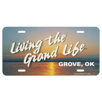 living the Grand Life license plate