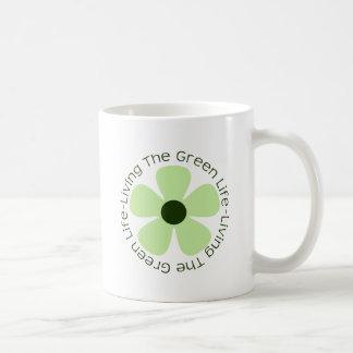 Living the Green Life Classic White Coffee Mug