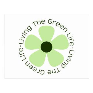 Living the Green Life Postcard
