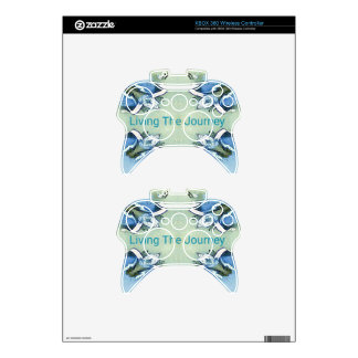 """Living the Journey"" Blue Green Positive Pattern Xbox 360 Controller Decal"