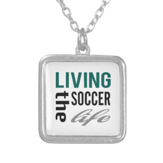 Living The Soccer Life Silver Plated Necklace