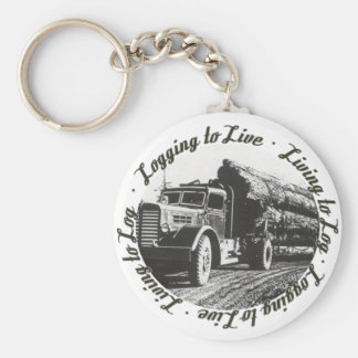 Living to Log, Logging to Live Basic Round Button Keychain