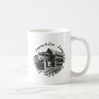 Living to Log, Logging to Live Coffee Mug