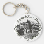 Living to Log, Logging to Live Keychains