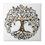 "Living Tree Ceramic Tile<br><div class=""desc"">The Tree of life is an extremely popular symbol that has been used in philosophy, mythology, religion and science for thousands of years. While some experts might argue over what it means, most agree that the tree is a metaphor for the fact that all of the earth is connected. The...</div>"