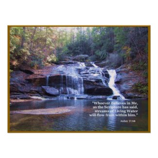 Living Water John 7:38 POSTER PRINT print
