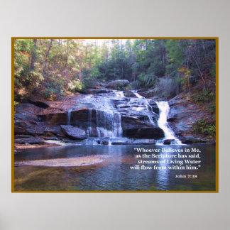 Living Water John 7 38 POSTER PRINT