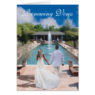 Living Water Renewing Vows Invitation Cards