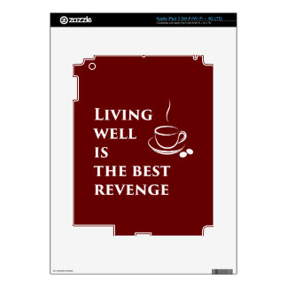 Living Well is the Best Revenge Decal For iPad 3