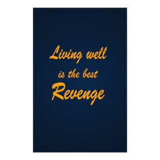 Living Well is the Best Revenge Stationery