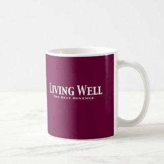 Living Well The Best Revenge Gifts Classic White Coffee Mug